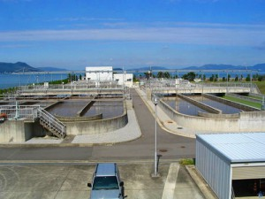 污水处理曝气池现场